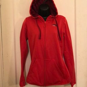 The north face red hoodie S